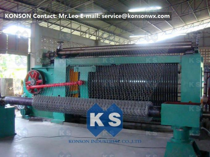 Gabion Fence Making Hexagonal Mesh Machine With Automatic Stop System 22Kw
