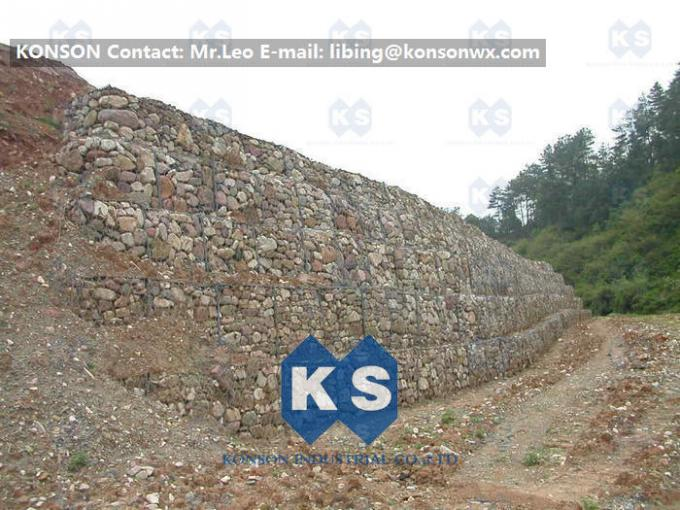 Galvanized Gabion Box Retaining Walls / Gabion Stone Basket Fence