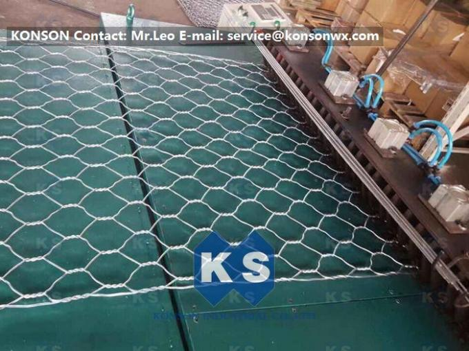 Width 4.3M Infrared Ray Safety Gabion Mesh Welding Machine SGS Certificate