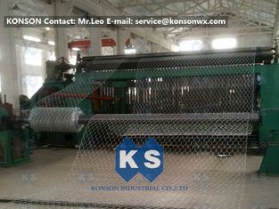 Çin High Efficiency 22kw Hexagonal Gabion Mesh Machine 80x100mm Mesh Size Tedarikçi