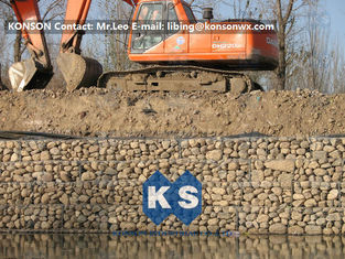 Çin Zinc Galvanised Wire Gabion Boxes / Gabion Cages For Flood Protection Products Tedarikçi