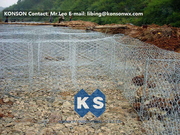 Çin Flexible Steel Wire Mesh Gabion Rock Baskets Mountain Protect Mesh 80mm x 100mm Tedarikçi
