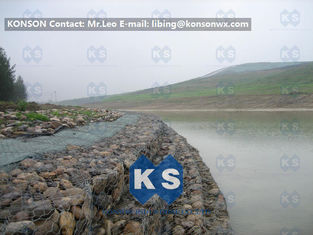 Çin Galvanized Wire Stone Gabion Basket For River Crossing / Marinas / Seashore Protection Tedarikçi