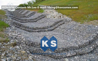 Çin Water And Soil Erosion Preventing Gabion Boxes With Hexagonal Wire Mesh Tedarikçi
