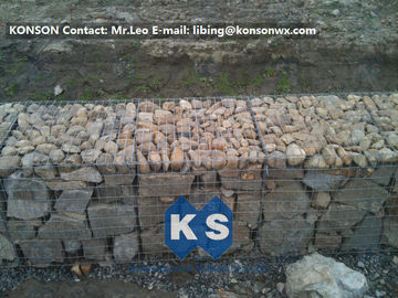 Çin Heavy Galvanized Wire Gabion Basket Retaining Wall Structures / Gabion Box Tedarikçi