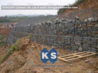 Çin Customized Hexagonal Gabion Mesh Wire Fence , Stainless Steel Wire Gabion Bag Fence Tedarikçi