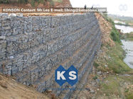Çin Defense Gabion Retaining Wall Hexagonal Wire Mesh with Galvanized Wire 2.7MM Fabrika