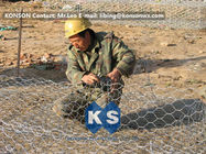 Çin Custom Gabion Stone Cages Hexagonal Wire 80 x 100MM For Protection Engineering Fabrika