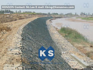 Çin Large Stone Gabion Boxes / Gabions And Mattresses 80mm x 100mm 2.7mm Wire Dia Fabrika