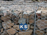 Çin PVC / Zinc Coated Wire Mesh Gabion Retaining Wall , Galvanized Hexagonal Wire Fence Fabrika