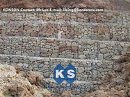 Çin Hexagonal Wire Mesh Gabion Retaining Wall with Polyethylene PE Coated Gabion Wire Fabrika