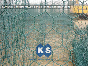 Çin High Corrosion Resistant Galvanized and PVC Coated Welded Gabions for Mesh Fencing Fabrika