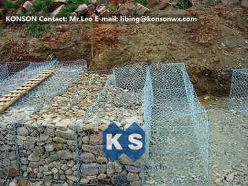 Çin Hexagonal Wire Mesh Double Twisted Gabion Wall Baskets With ASTM A975-97 Standard Fabrika