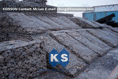 Çin Galfan Hexagonal Wire Mesh Woven Steel Gabion Boxes With ASTM A975-97 Standard Fabrika